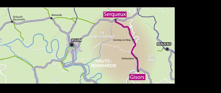 Modernisation Serqueux - Gisors partie de l'itinéraire fret alternatif Paris - Le Havre p@SNCF Réseau