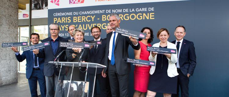 13 septembre 2016. Cérémonie du changement de nom de la gare de Paris Bercy- Bourgogne Pays d'Auvergne. ©SNCF/Ch. Recourra