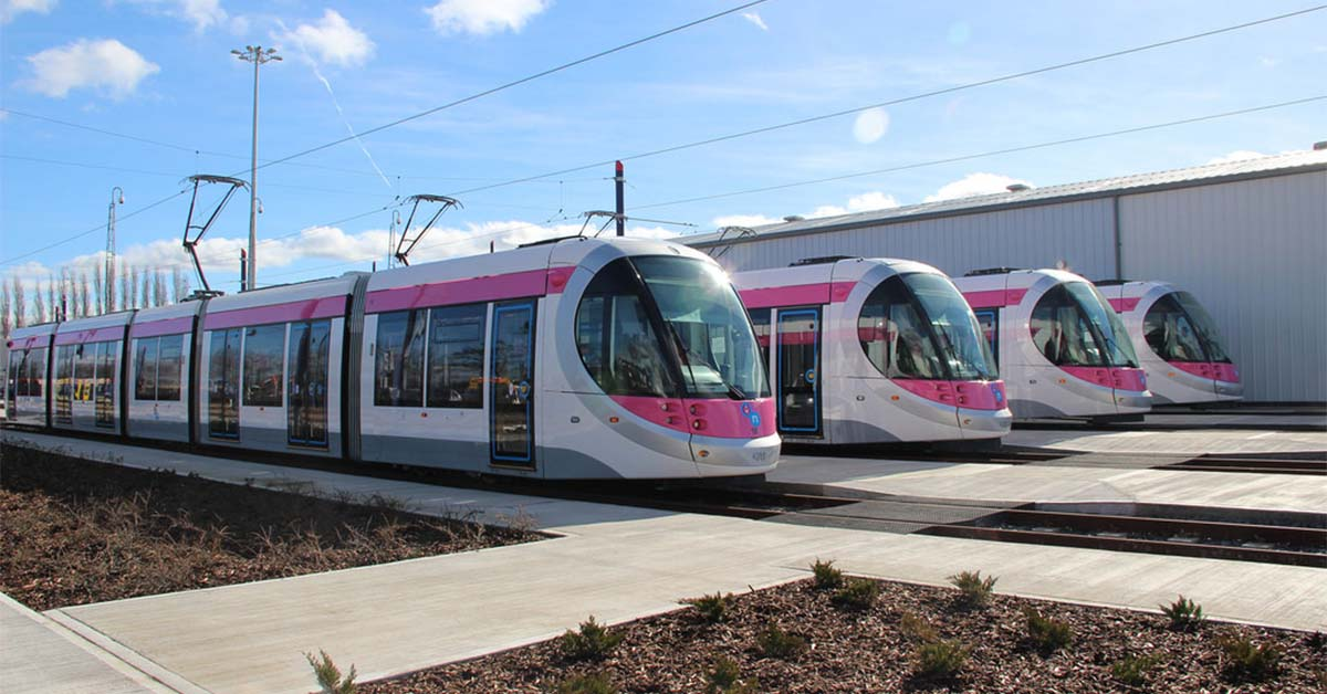 Voici le Midland Metro, nom officiel du tramway de Birmingham.