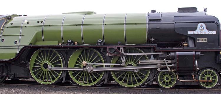 Locomotive à vapeur 60163 Tornado à Tyseley, Angleterre, le  28 juin 2009