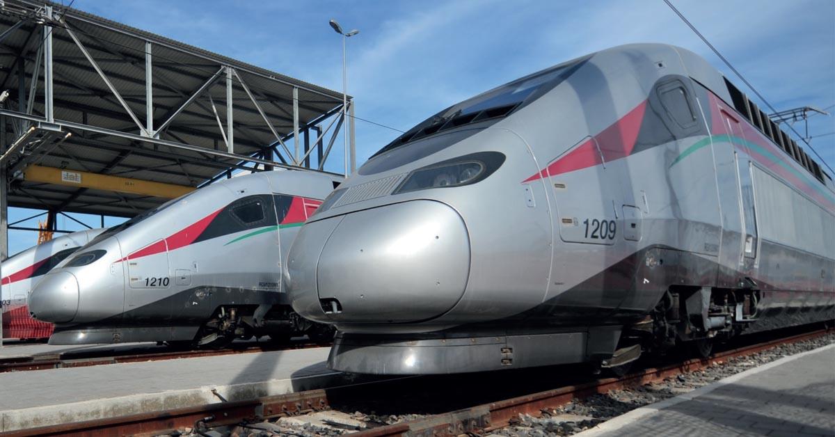 Rames TGV des chemins de fer marocains ONCF.