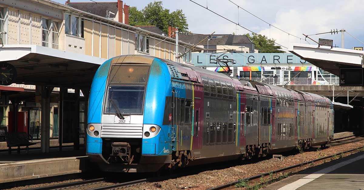 Un TER à Angers.