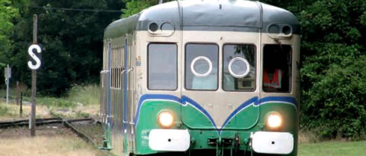 L'autorail X 2419 du Train touristique de la vallée du Loir (TTVL)  circule B. Vieu sur la ligne à la belle saison.