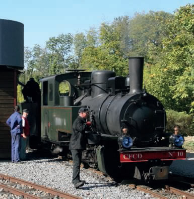 locomotive n° 10 du P'tit train de la Haute-Somme
