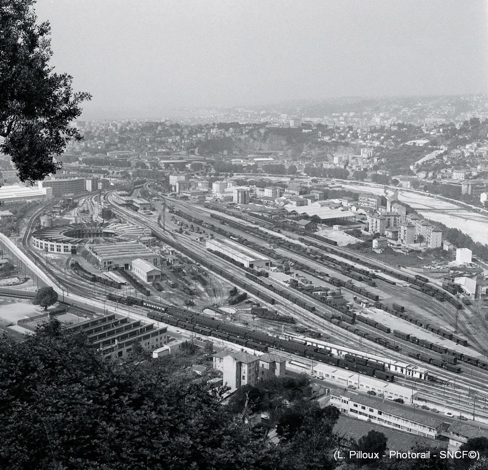 Nice-Saint-Roch depot vapeur 1960