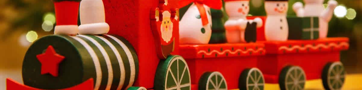 Noel Train sapin ferroviaire