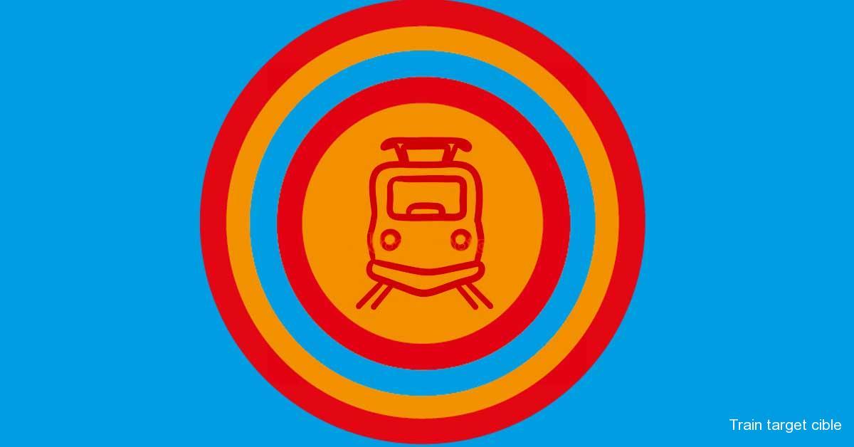 Train target cible