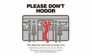 Hodor subway metro affiche