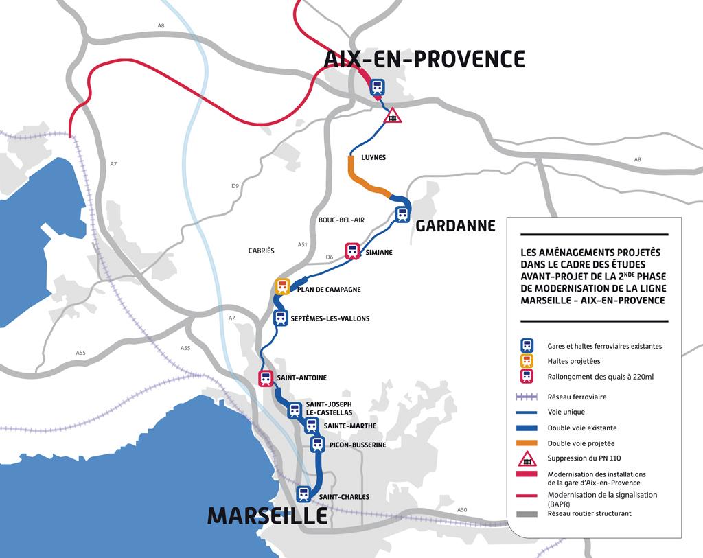 La modernisation d'Aix-Marseille devrait coûter 180 millions d'euros.  © SNCF Réseau