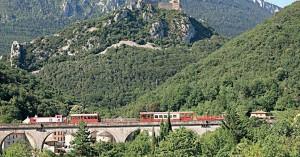 Train du Pays cathare et du Fenouillèdes.