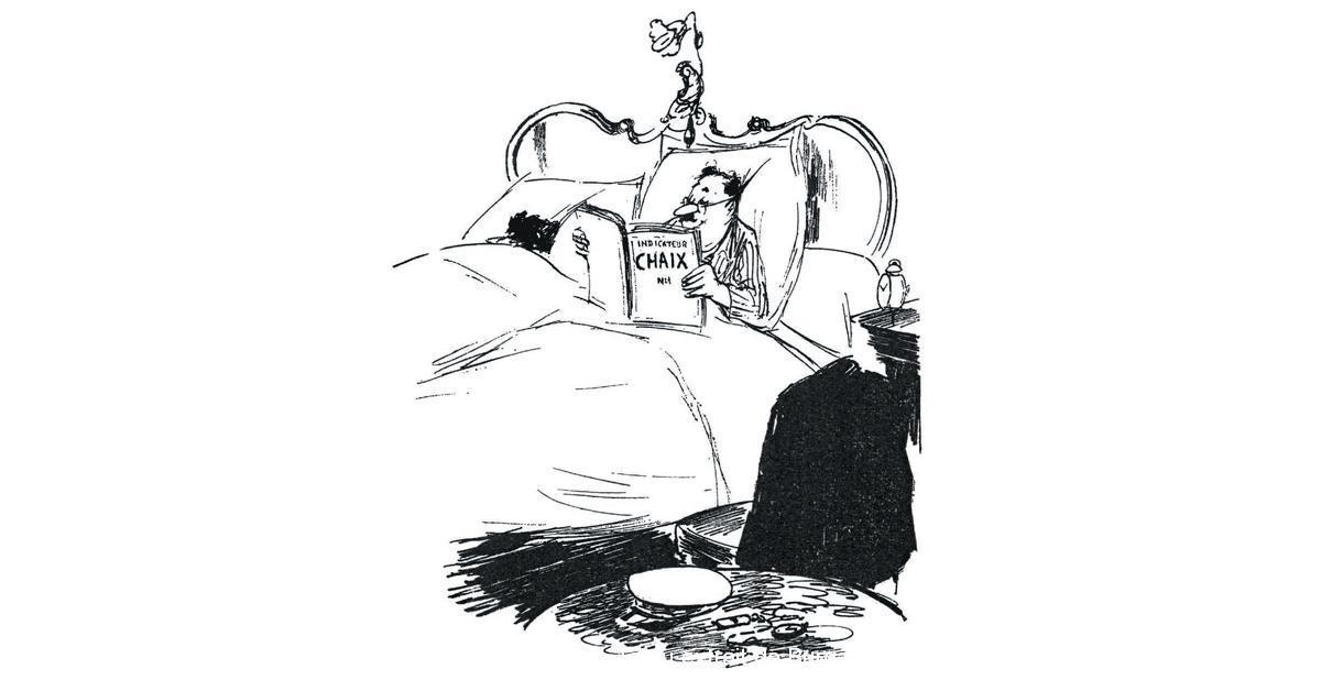 (c) DR/Dessin de Testu extrait de Burgaux, Souvenirs d'un chef de gare, 1959, p. 9