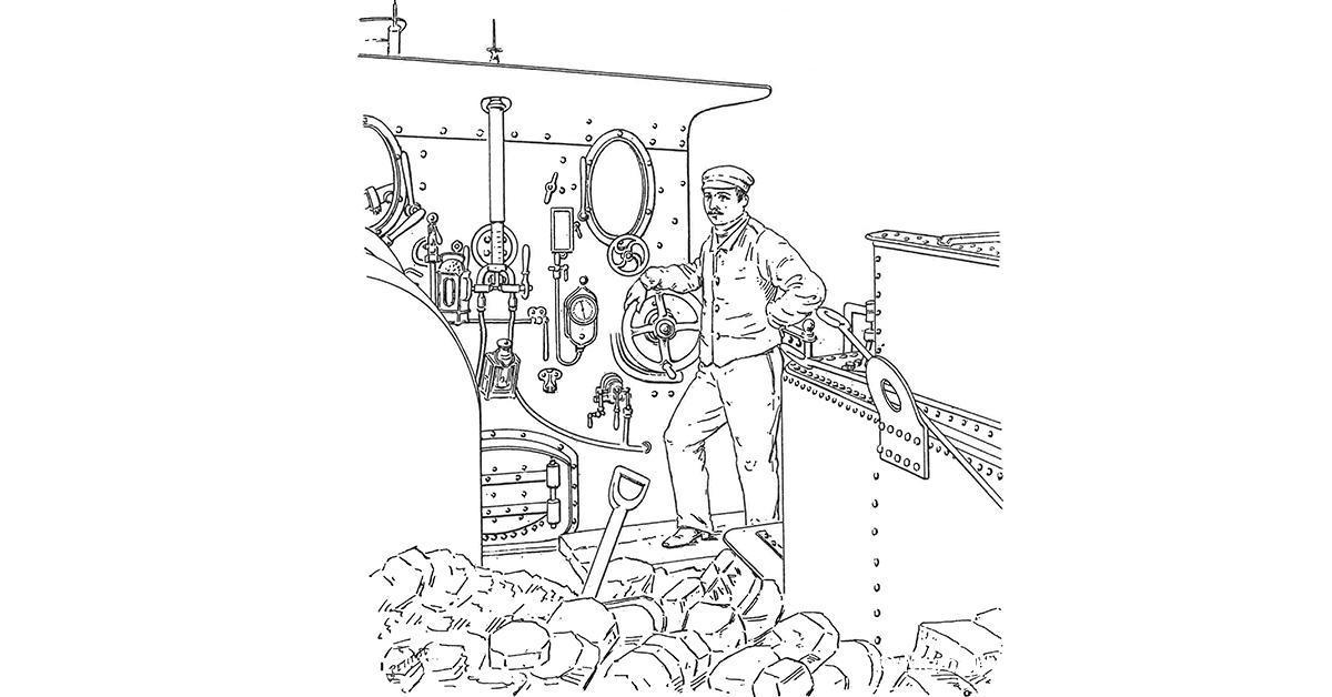 © Marc de Meulen, La Locomotive, 1889
