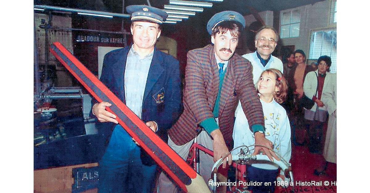 Raymond Poulidor en 1989 à HistoRail © HistoRail®.
