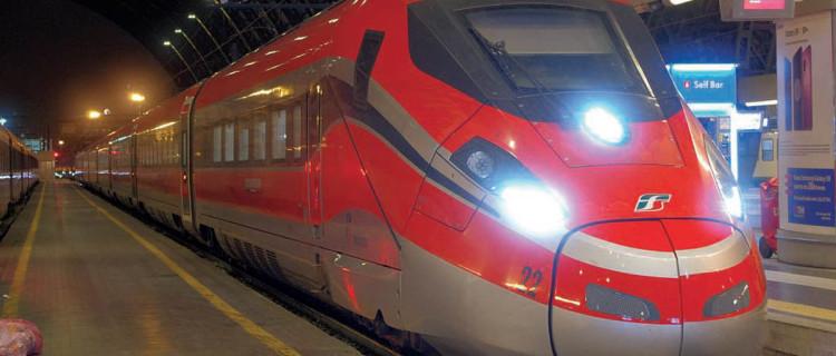 Une nouvelle rame Frecciarossa 1 000 en provenance de Salerne arrive à Milan après un parcours de 840 km, dont les deux tiers sont équipés ERTMS ou doivent l'être prochainement.