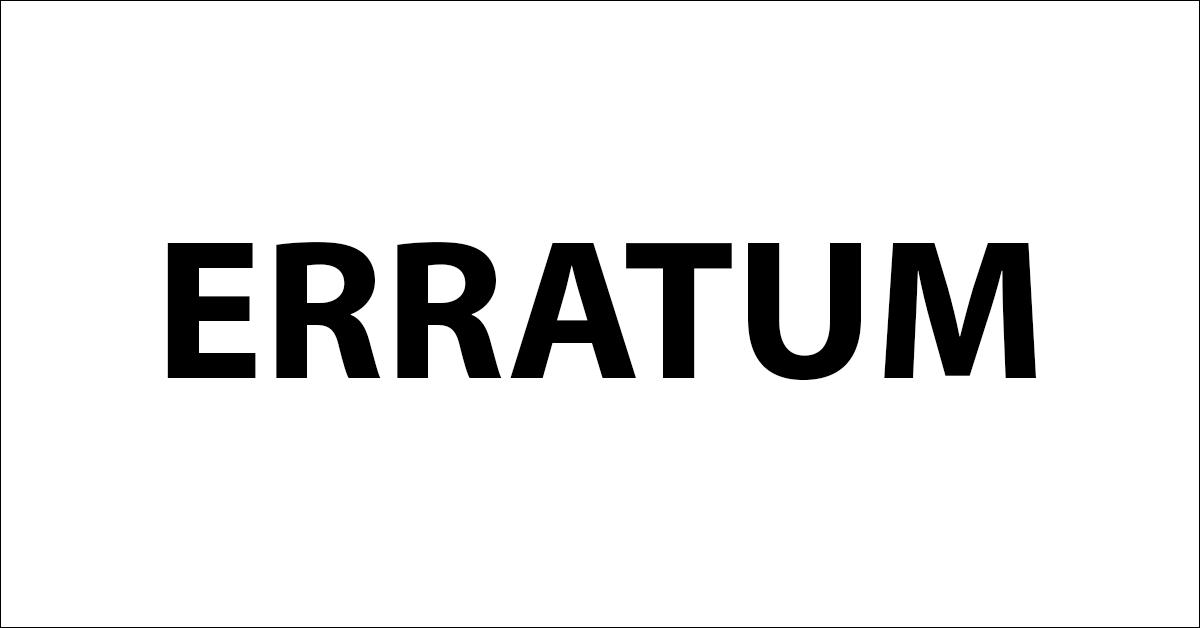 EARRATUM