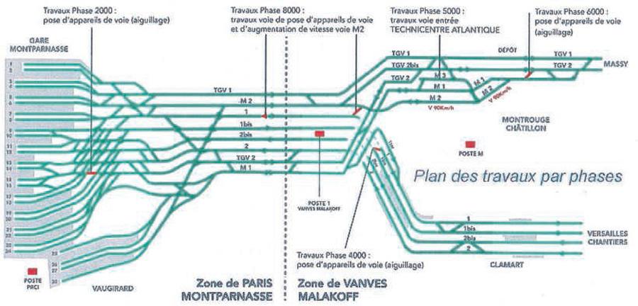 Chantiers coordonn s paris montparnasse rail passion for Plan interieur gare montparnasse