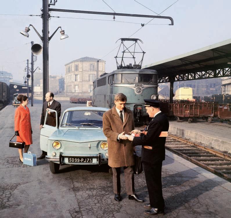 1960 train publicité