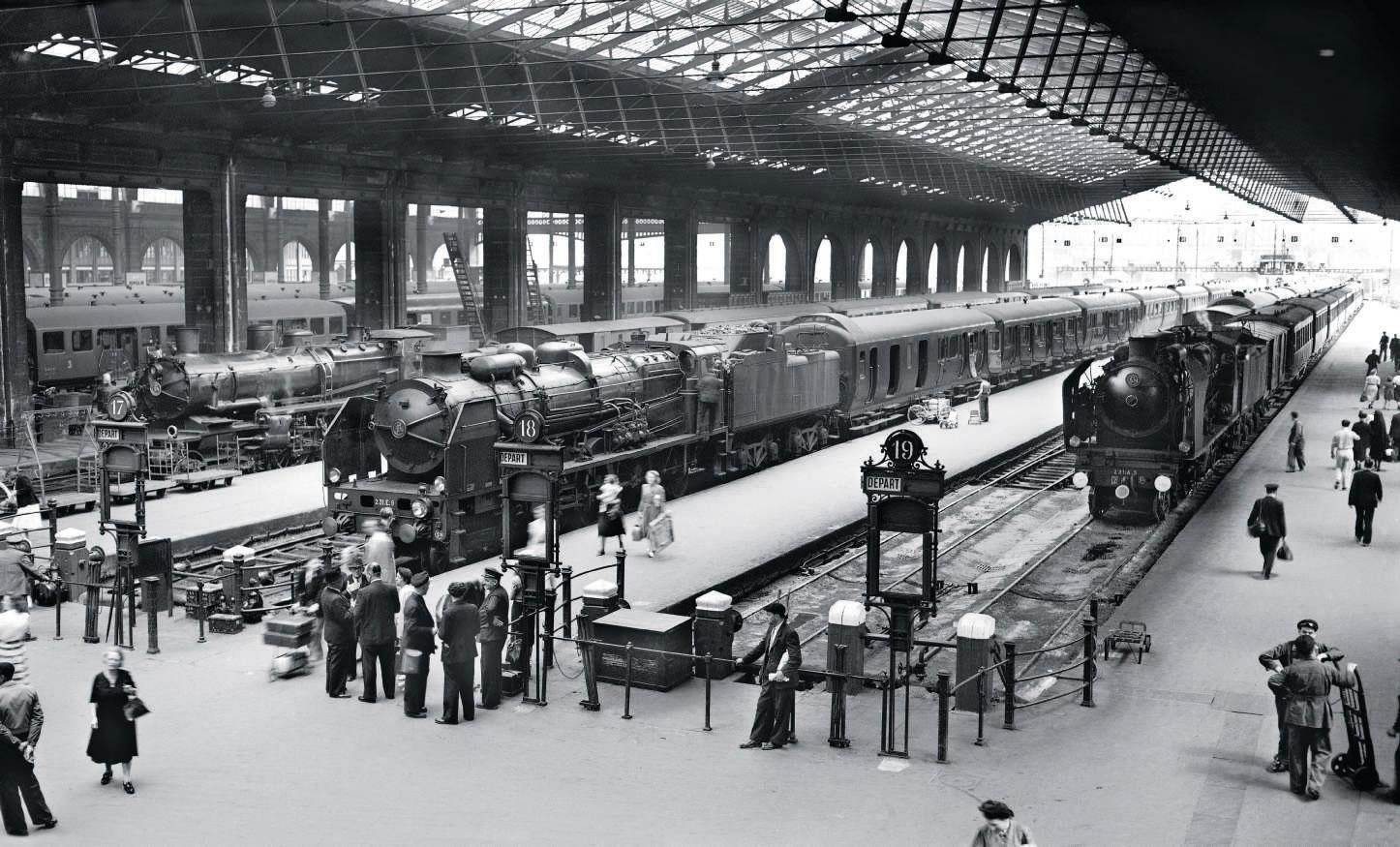 Locomotive vapeur gare du nord 230 D