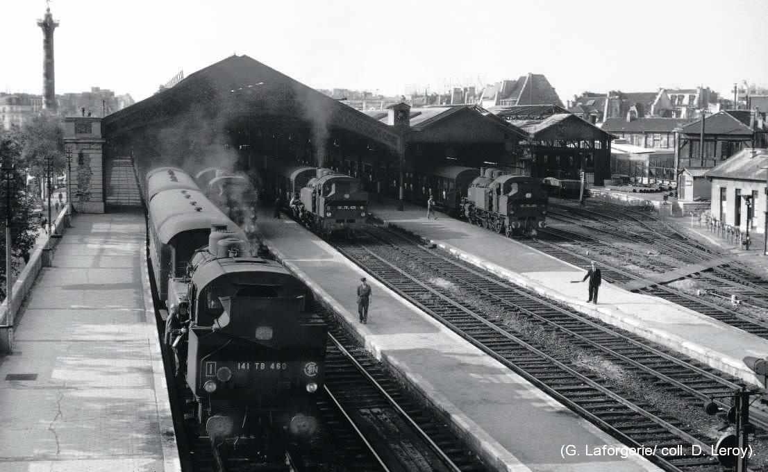 gare de la Bastille années 60