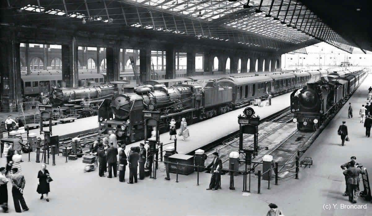 Gare du nord Loco vapeur