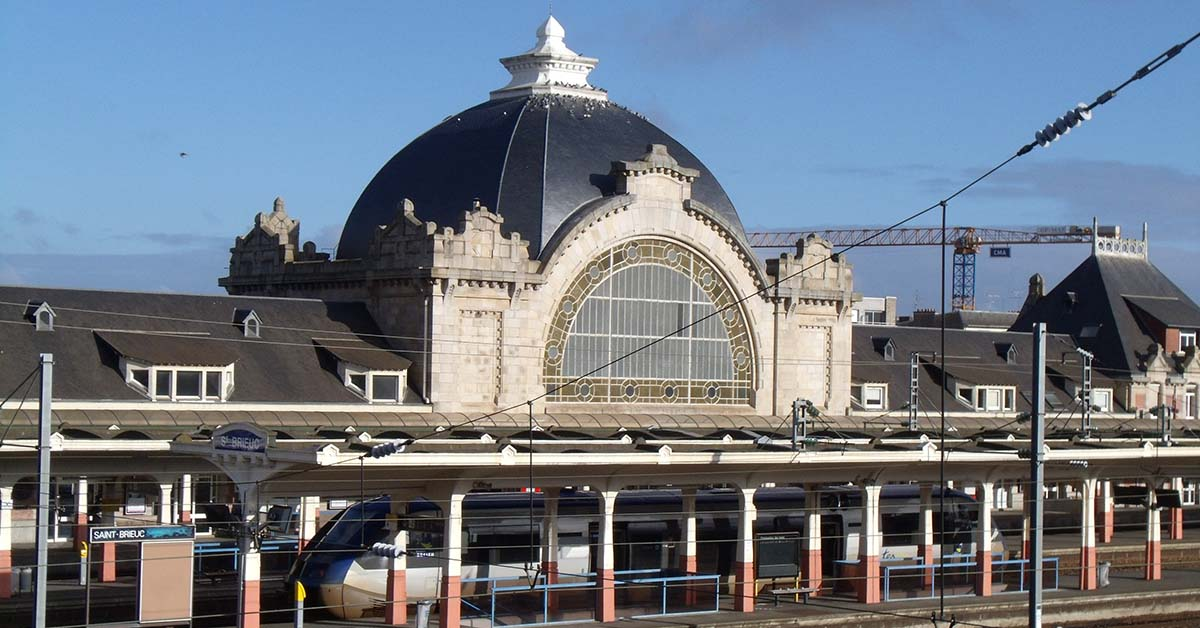 La gare de Saint-Brieuc