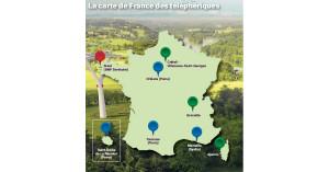 En rouge : en service En bleu : Projets dont les appels d'offres ont été lancés En vert : Projets évoqués