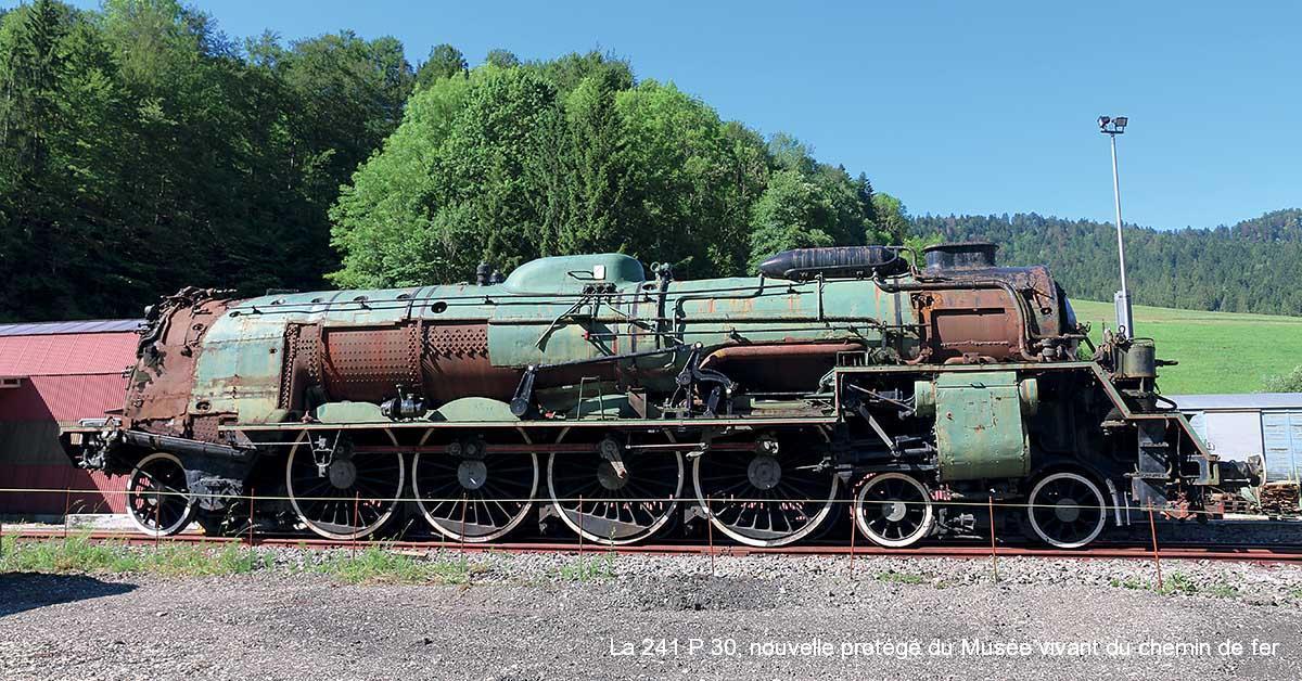 La 241 P 30, nouvelle protégé du Musée vivant du chemin de fer